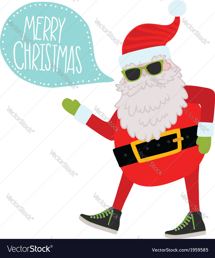 Hipster santa claus christmas background vector | Price: 1 Credit (USD $1)