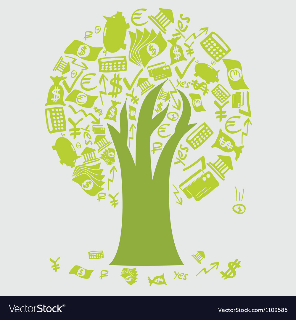 Money tree icons vector | Price: 1 Credit (USD $1)