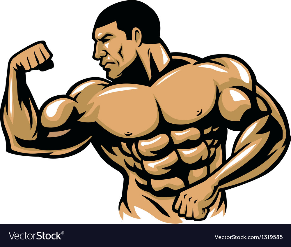Muscle bodybuilder posing vector | Price: 1 Credit (USD $1)