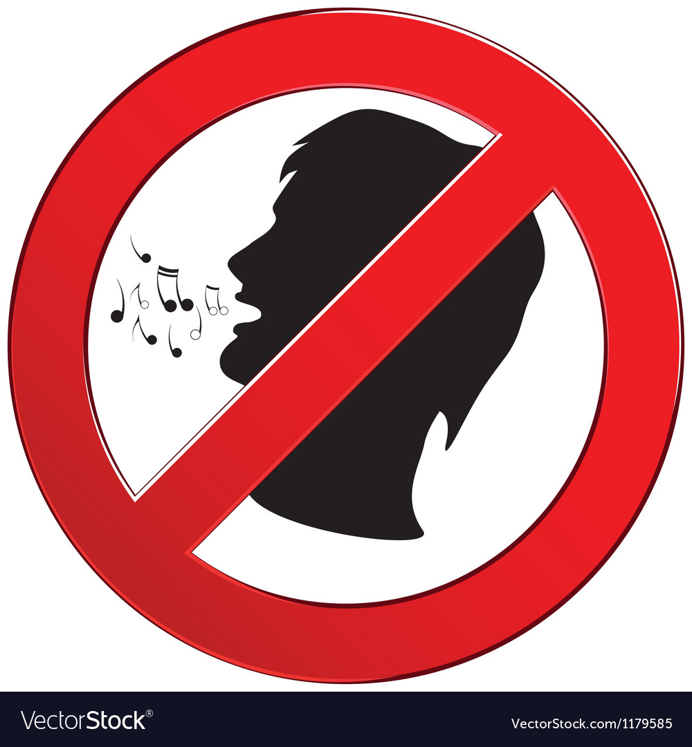 No speak sign vector | Price: 1 Credit (USD $1)