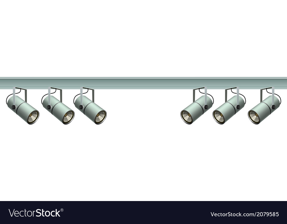 Spotlights on a metal beam vector | Price: 1 Credit (USD $1)