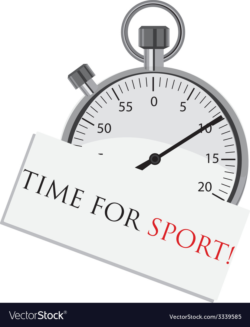 Stopwatch with text time for sport vector | Price: 1 Credit (USD $1)