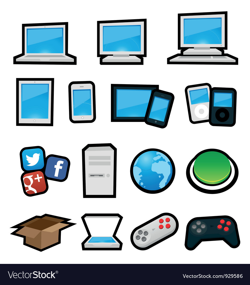 Cartoon computers vector | Price: 1 Credit (USD $1)