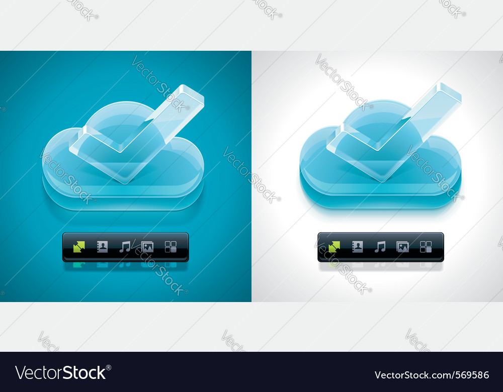 Cloud computing xxl icon vector | Price: 1 Credit (USD $1)