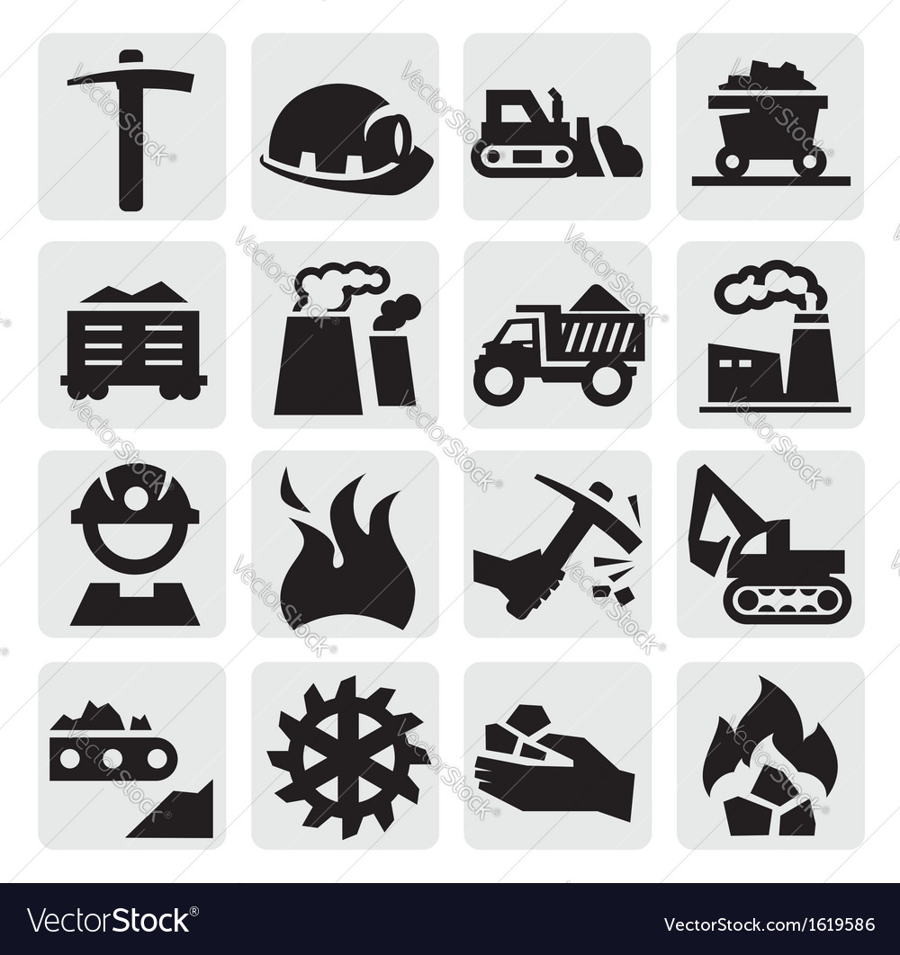 Coal icon vector | Price: 1 Credit (USD $1)