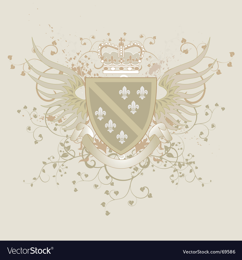 Coat of arms with fleur-de-lis vector | Price: 1 Credit (USD $1)
