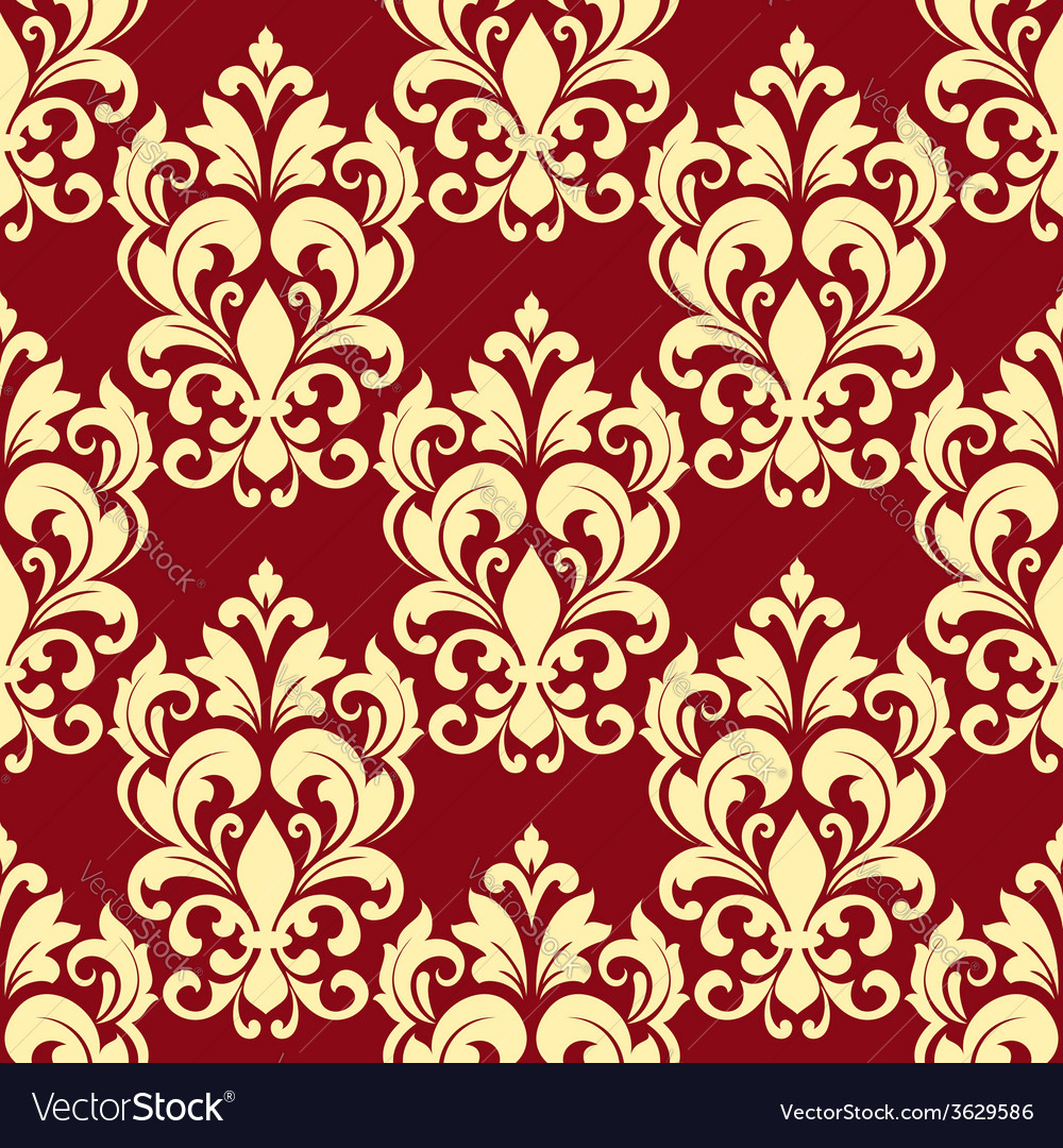 Floral seamless pattern with beige flowers vector | Price: 1 Credit (USD $1)