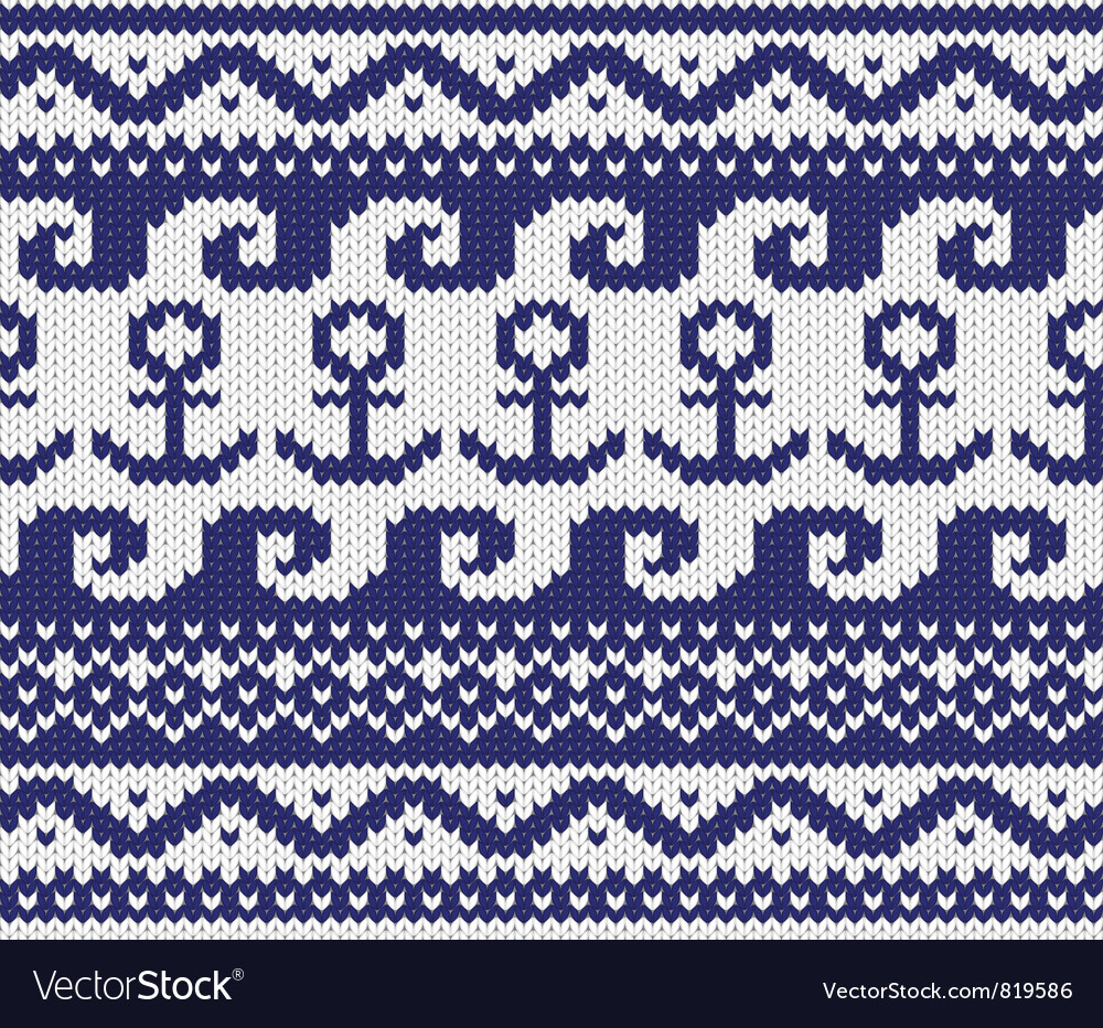 Knitted marine pattern vector | Price: 1 Credit (USD $1)