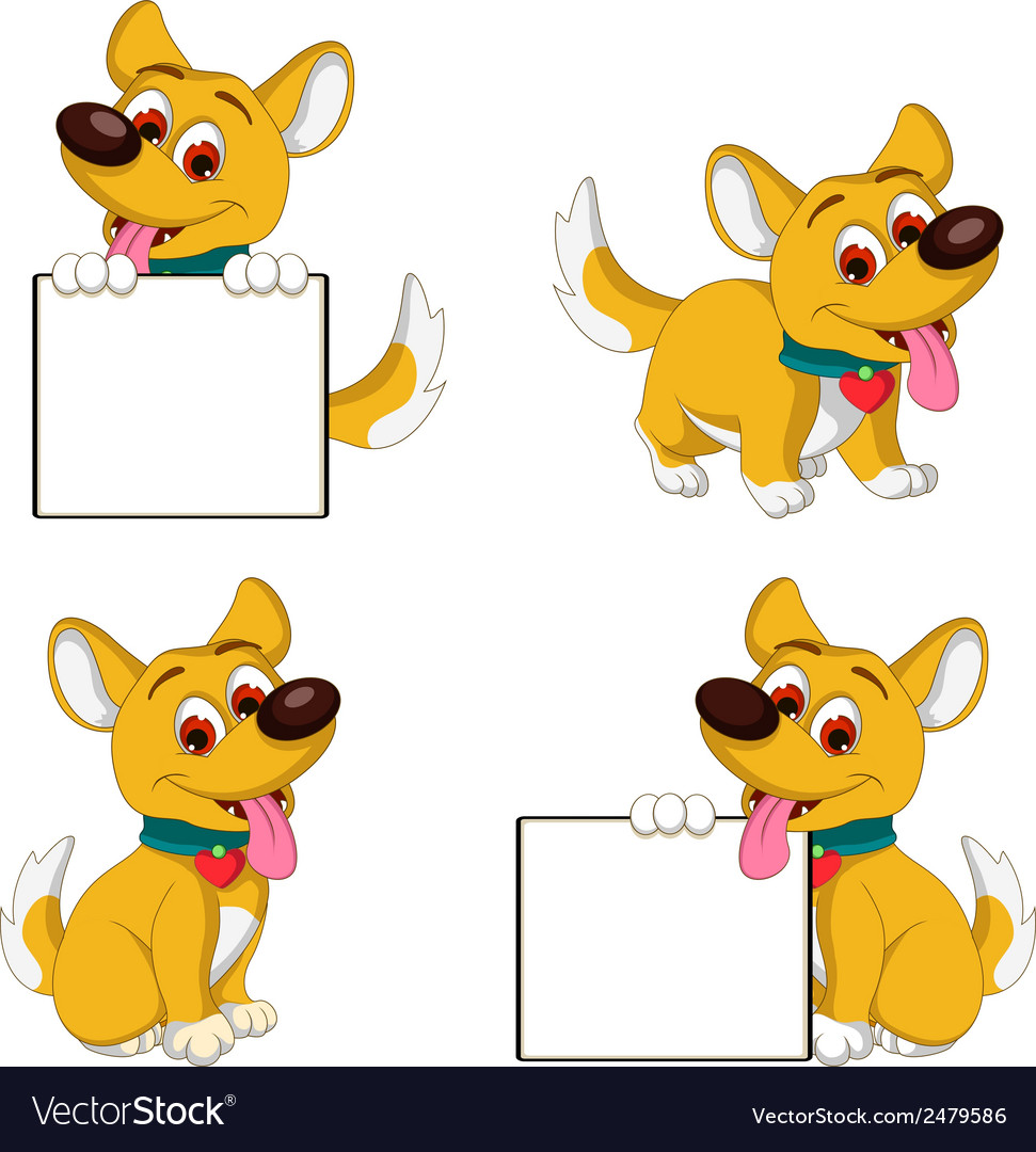 Puppy cartoon collection vector | Price: 1 Credit (USD $1)