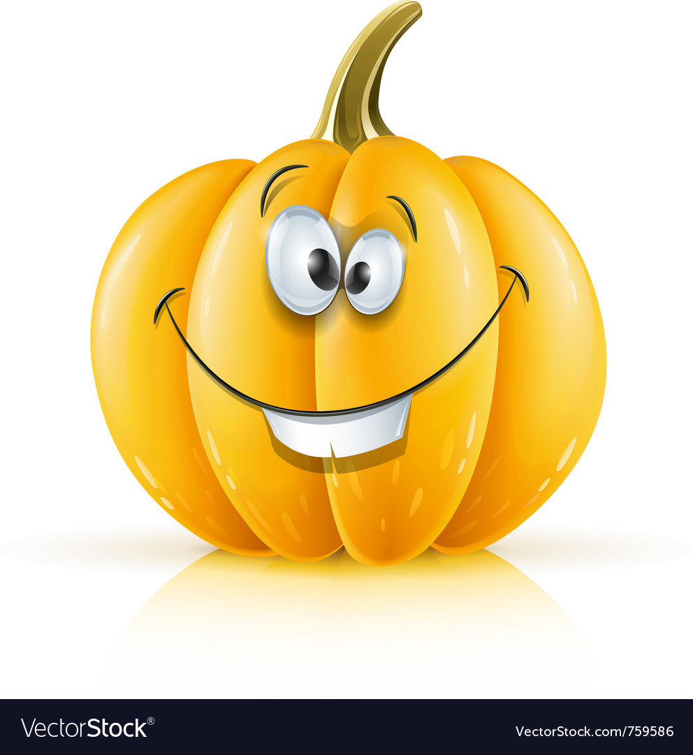 Smiling ripe orange pumpkin vector | Price: 3 Credit (USD $3)