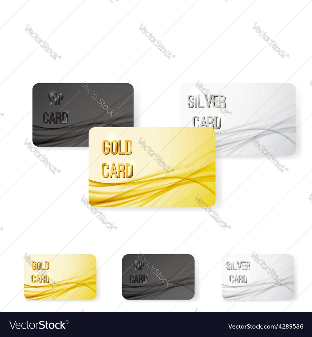 Smooth swoosh wave line premium membership card vector | Price: 1 Credit (USD $1)