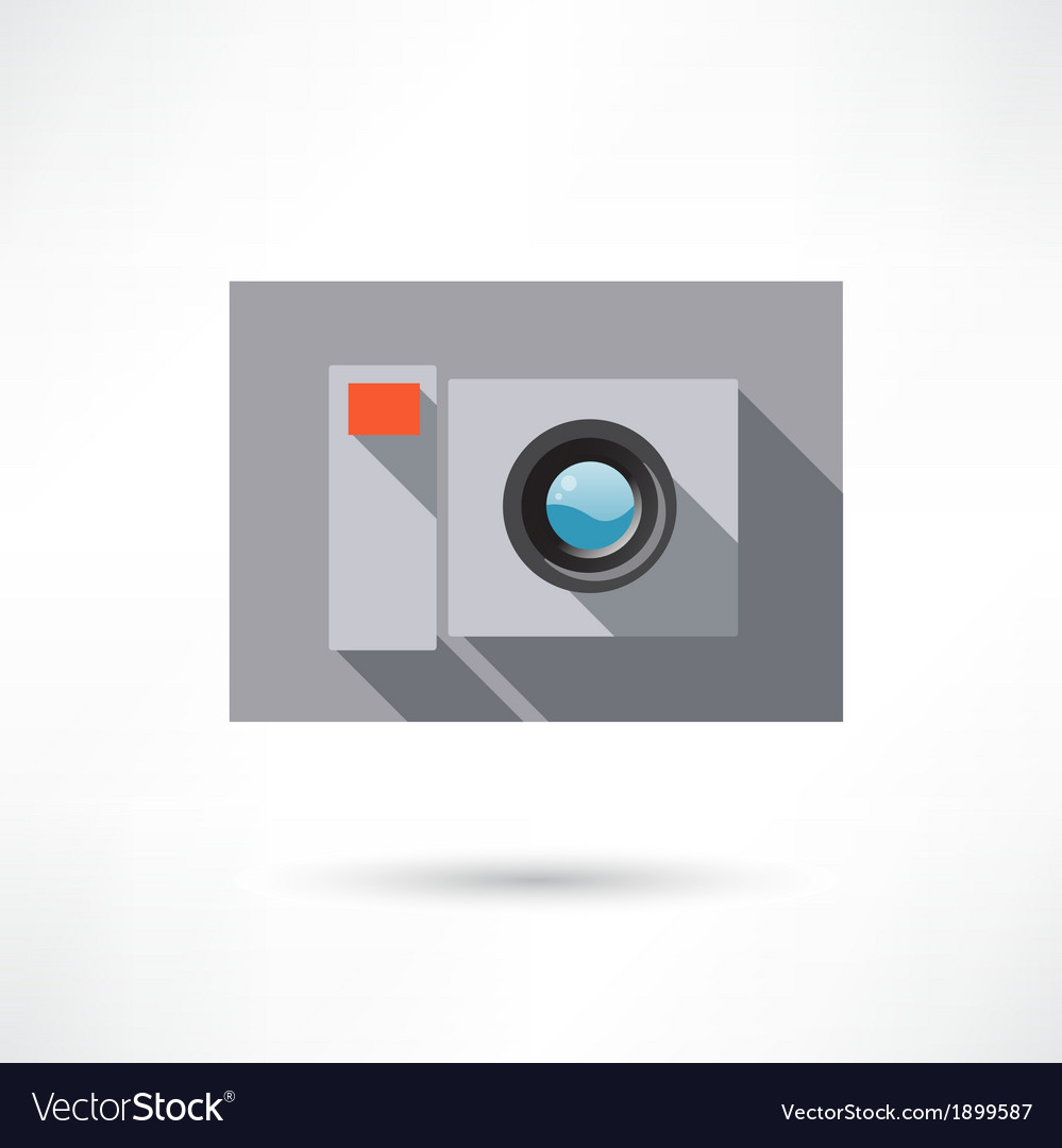 Camera in a flat design icon vector | Price: 1 Credit (USD $1)