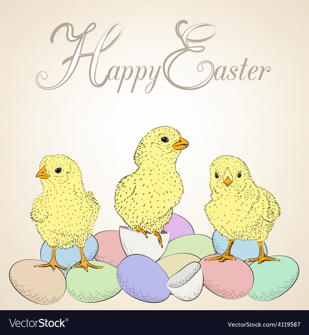 Chickens and eggs vector   Price: 1 Credit (USD $1)