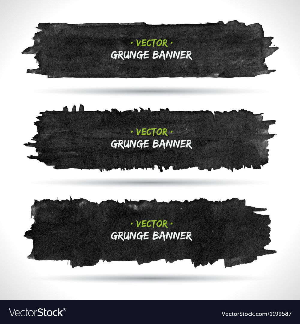 Grunge banners set vector | Price: 1 Credit (USD $1)