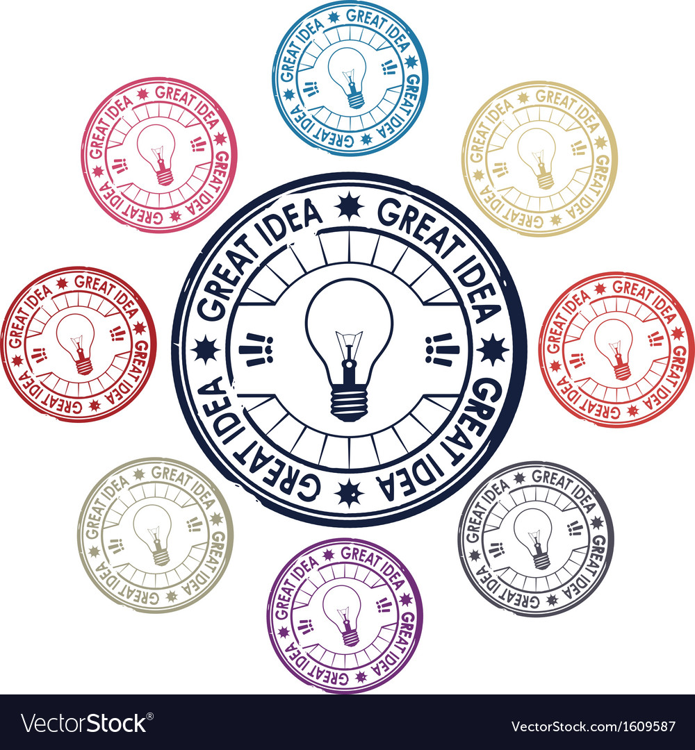 Idea stamp vector | Price: 1 Credit (USD $1)
