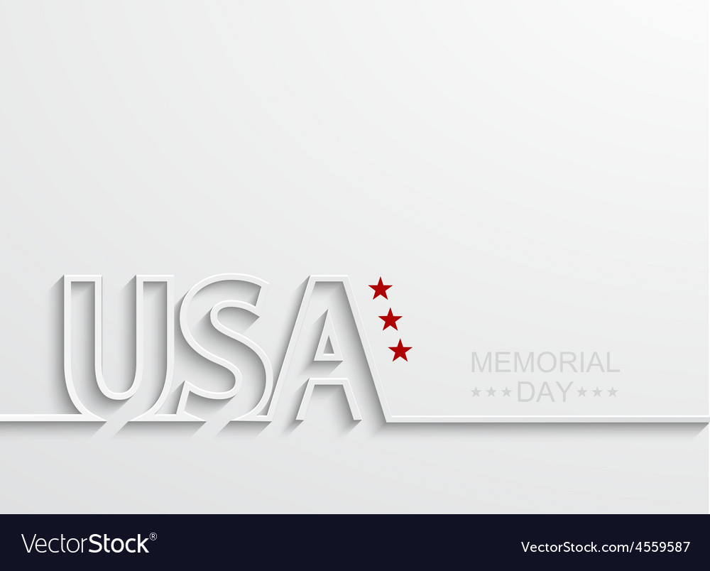 Modern memorial day or 4 july vector | Price: 1 Credit (USD $1)