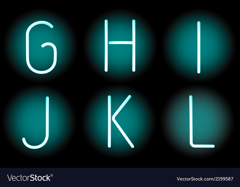 Neon letters vector   Price: 1 Credit (USD $1)