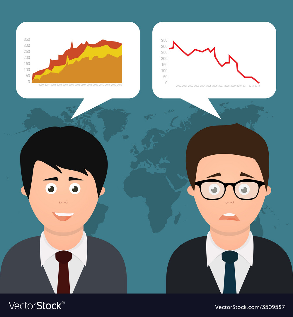 Two businessmen discussing vector | Price: 1 Credit (USD $1)