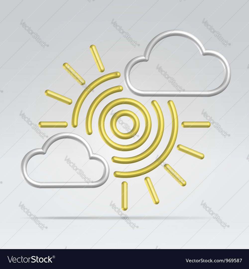 Weather partly sunny vector | Price:  Credit (USD $)