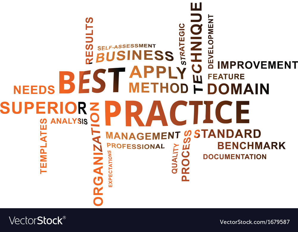 Word cloud best practice vector | Price: 1 Credit (USD $1)