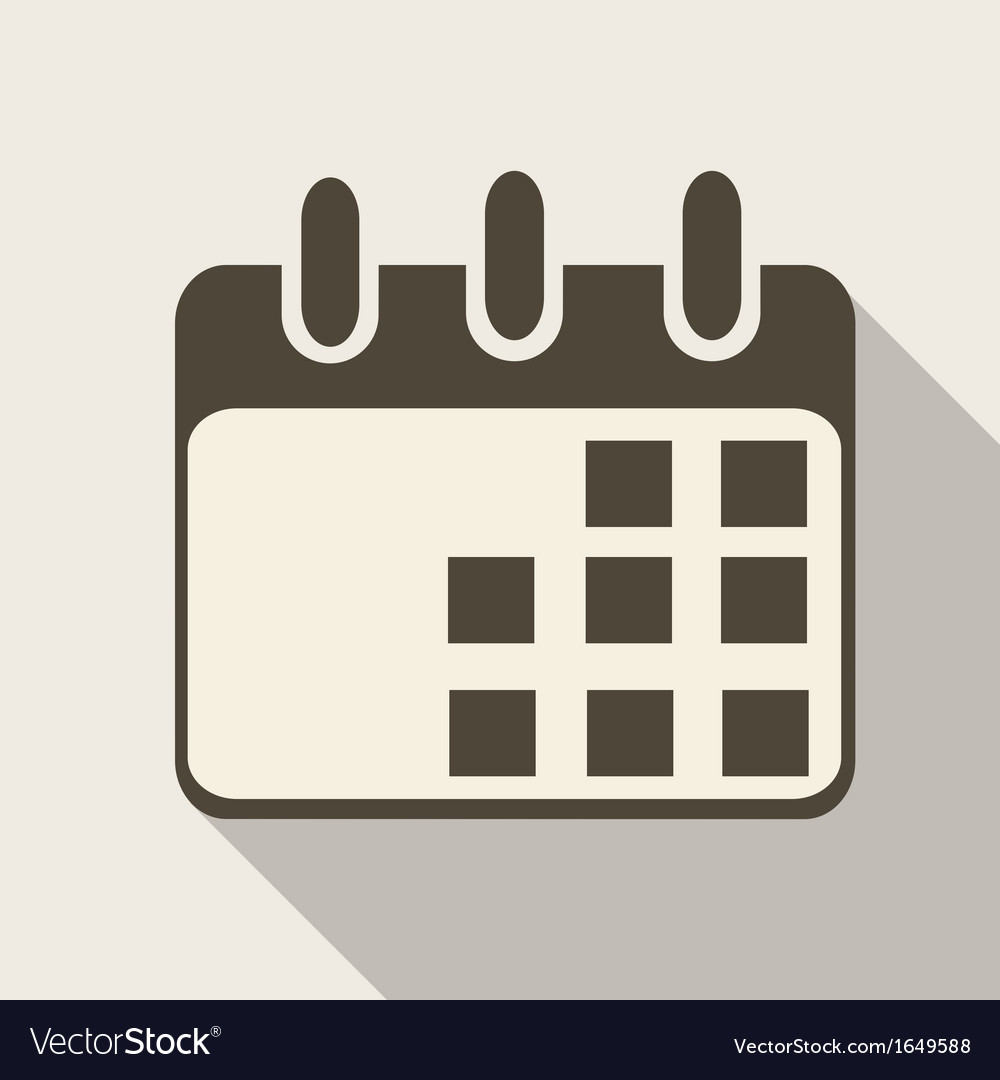 Calendar organizer web icon vector | Price: 1 Credit (USD $1)