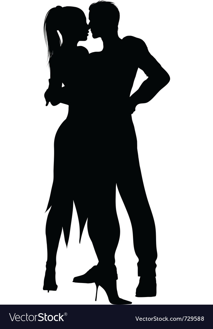 Dancers silhouette vector | Price: 1 Credit (USD $1)
