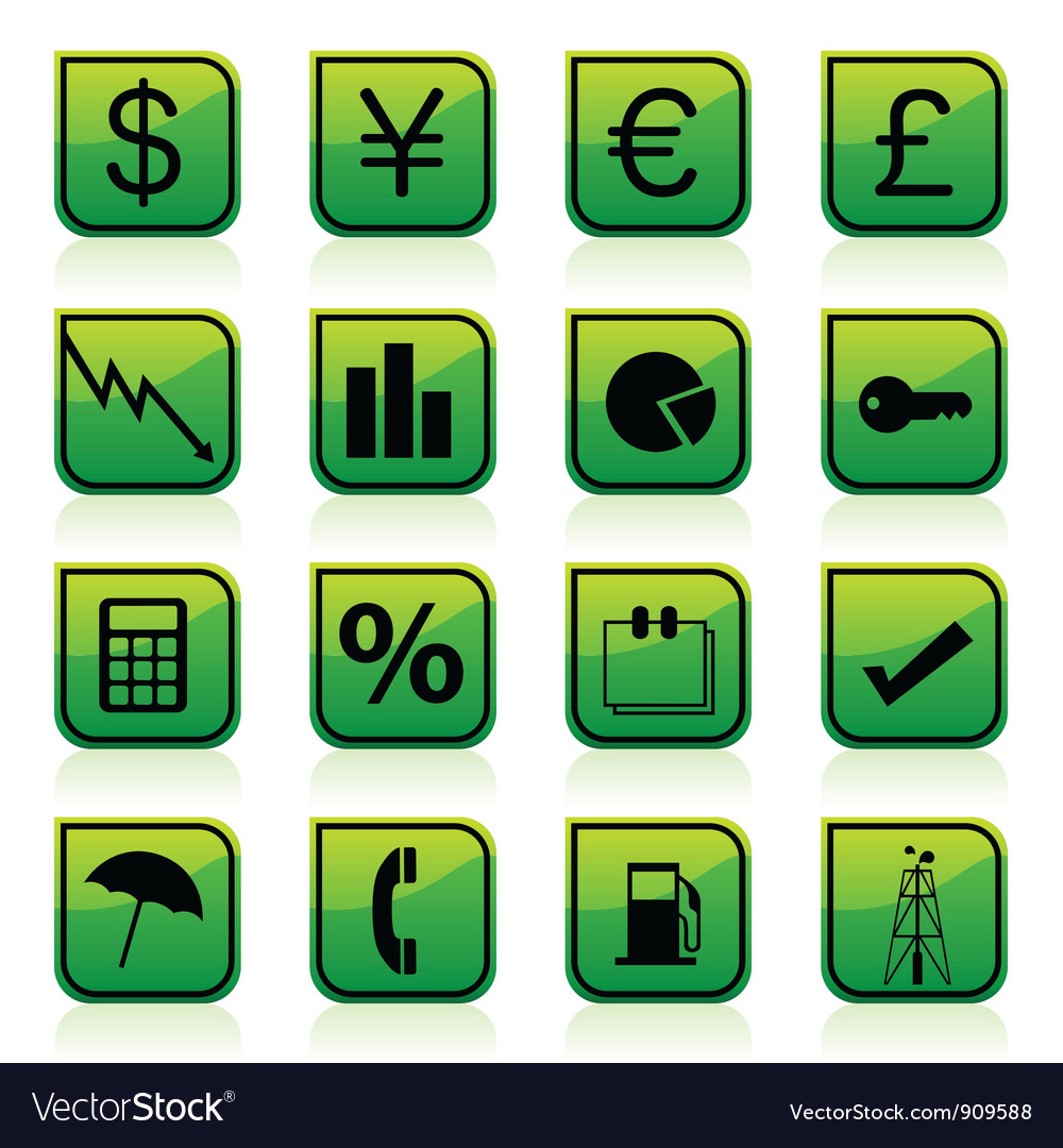 Financial signs vector   Price: 3 Credit (USD $3)