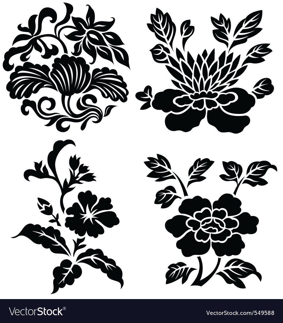 Flower emblem vector | Price: 1 Credit (USD $1)