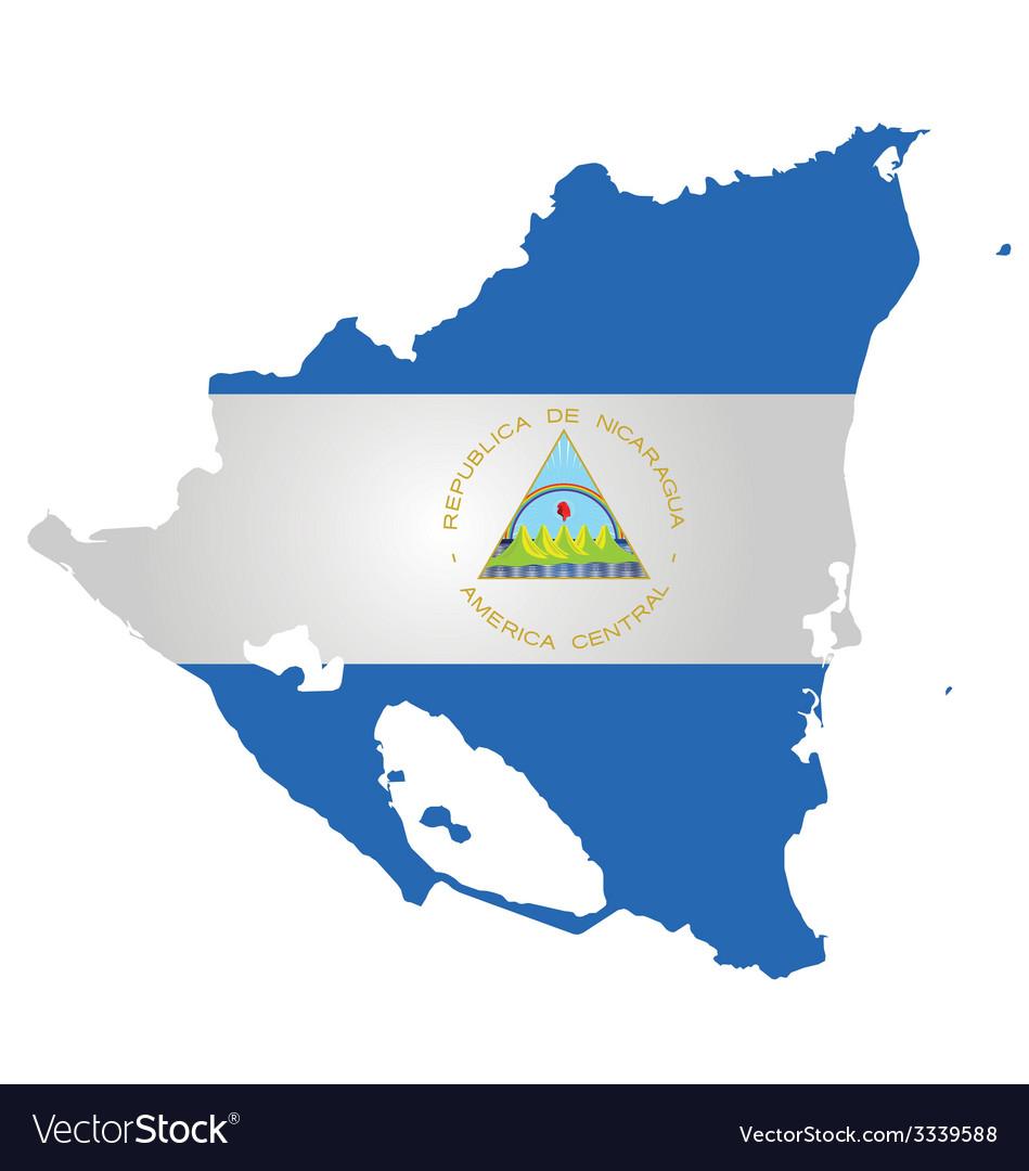 Nicaragua flag vector | Price: 1 Credit (USD $1)