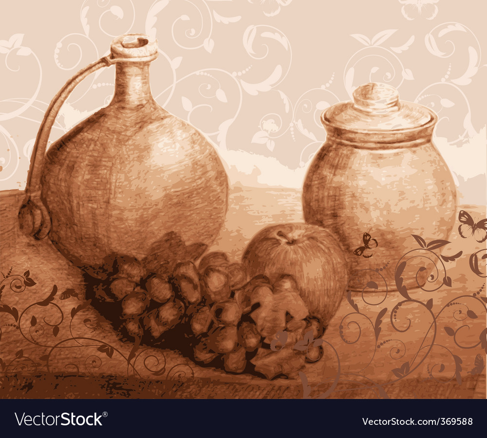 Rustic still life vector | Price: 1 Credit (USD $1)