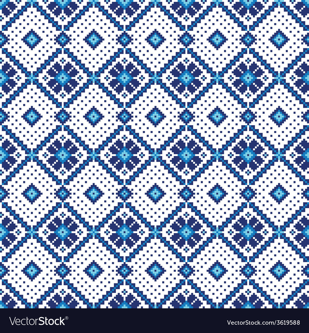 Ukrainian folk seamless pattern ornament ethnic vector | Price: 1 Credit (USD $1)