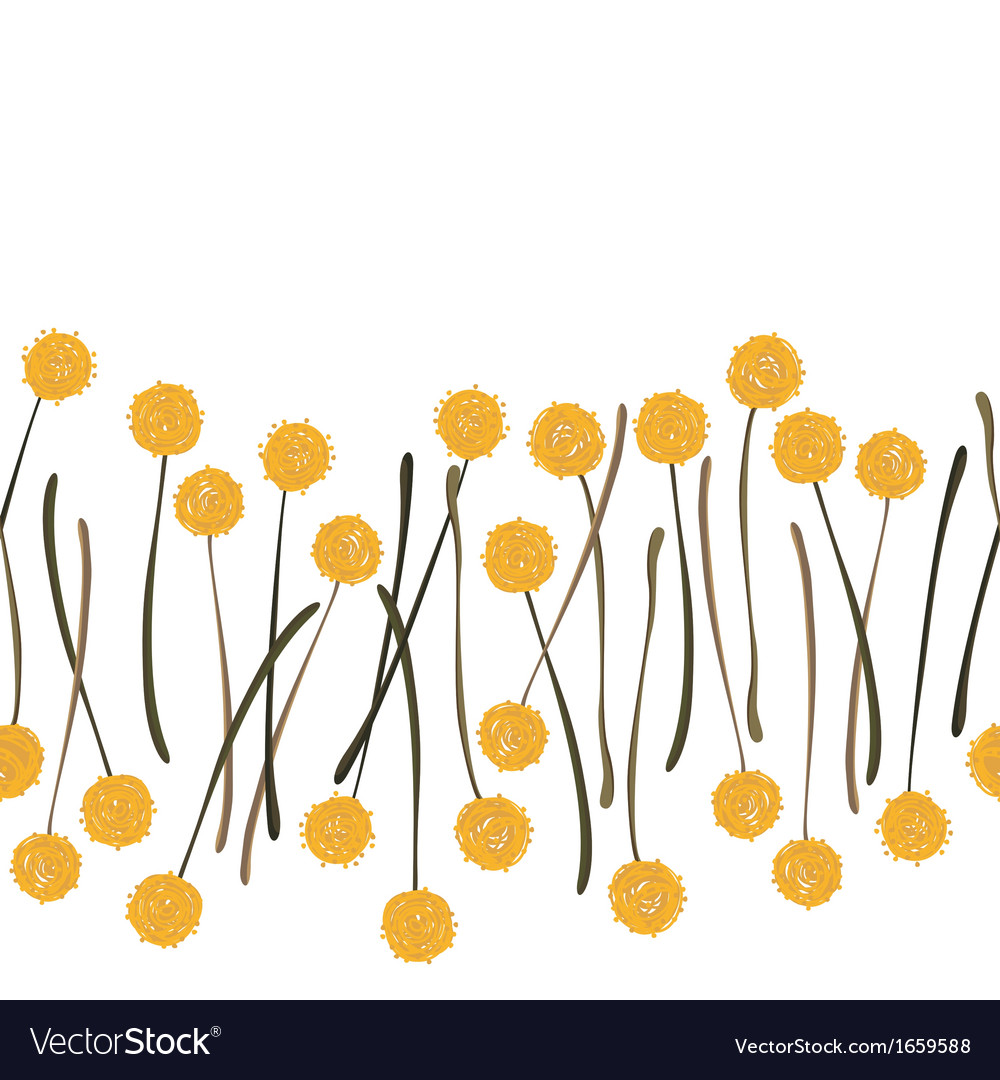 Yellow dandelions vector | Price: 1 Credit (USD $1)