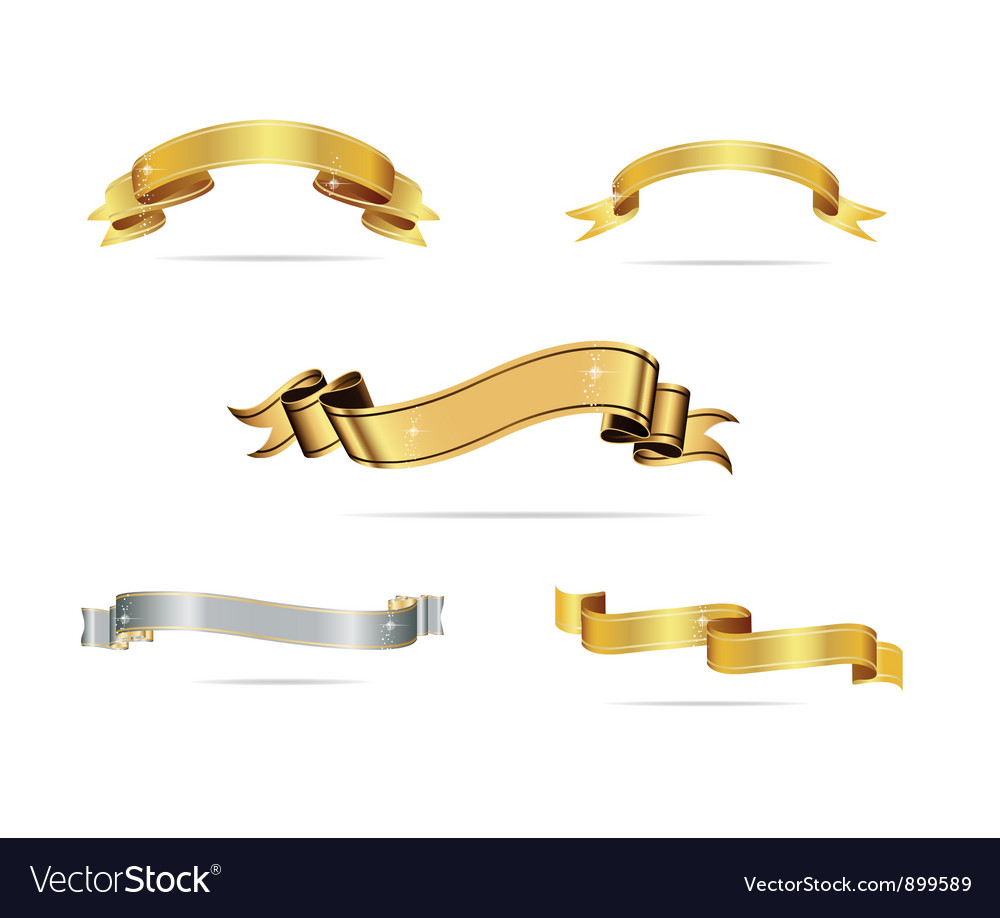Abstract design ribbons set vector | Price: 3 Credit (USD $3)