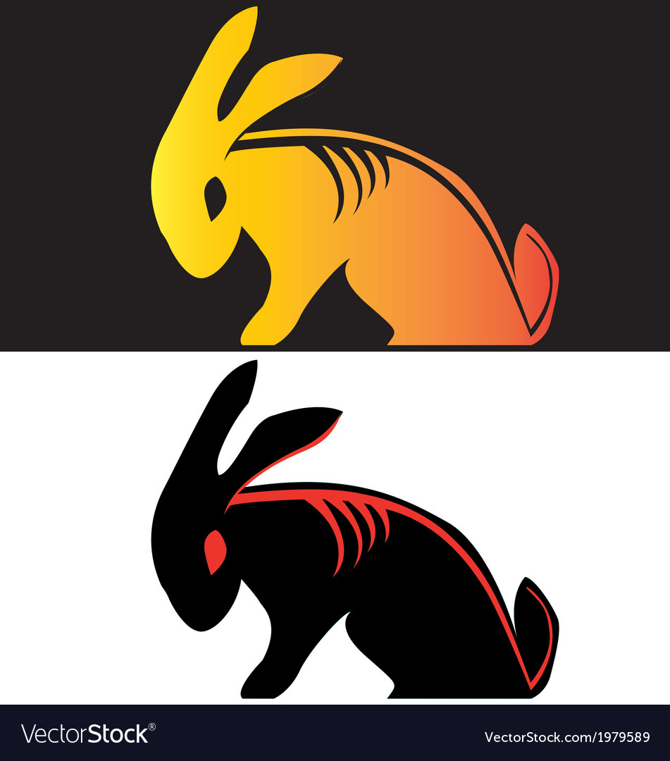 Bad boy rabbit tribal tattoo vector | Price: 1 Credit (USD $1)