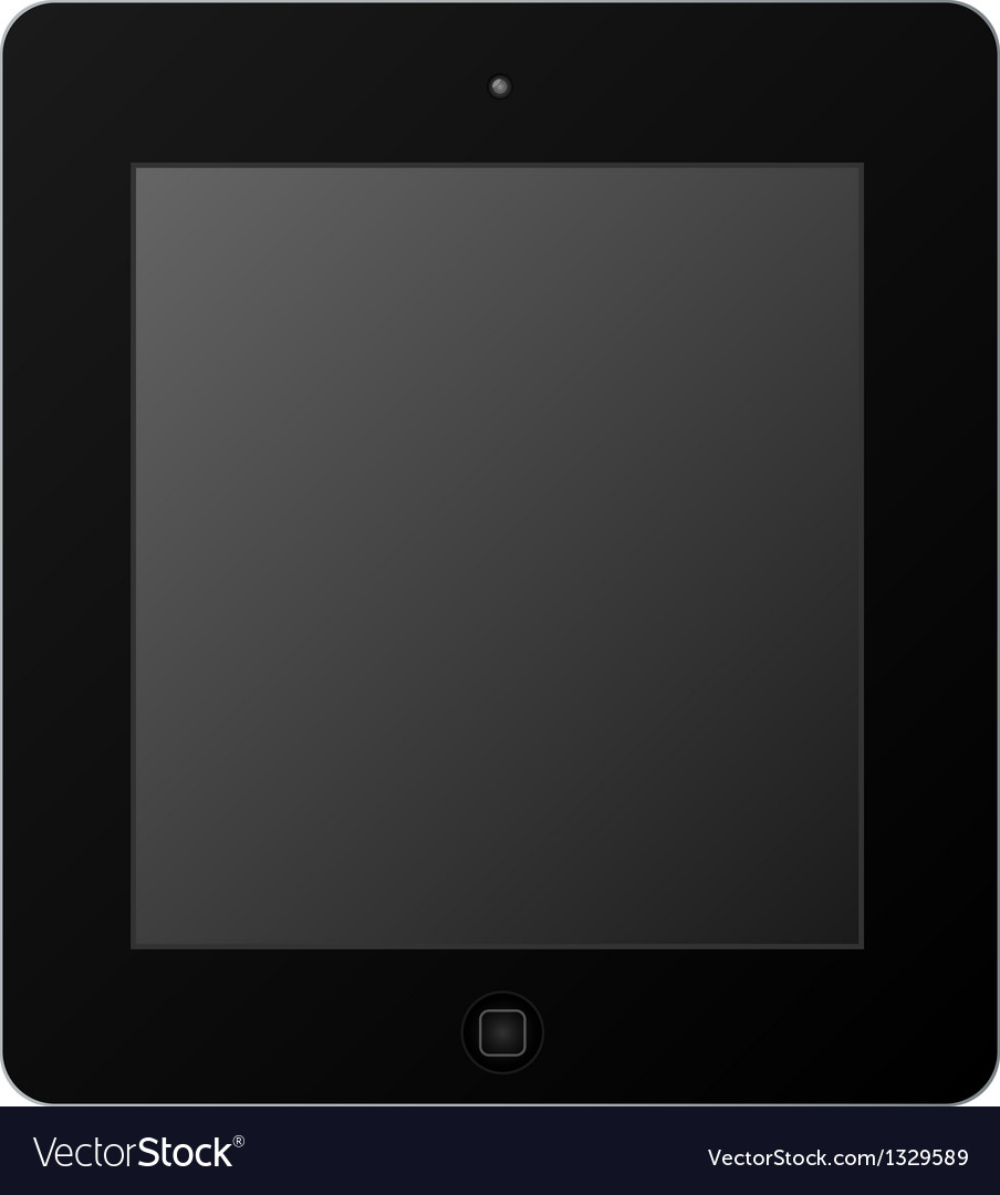 Black tablet vector | Price: 1 Credit (USD $1)