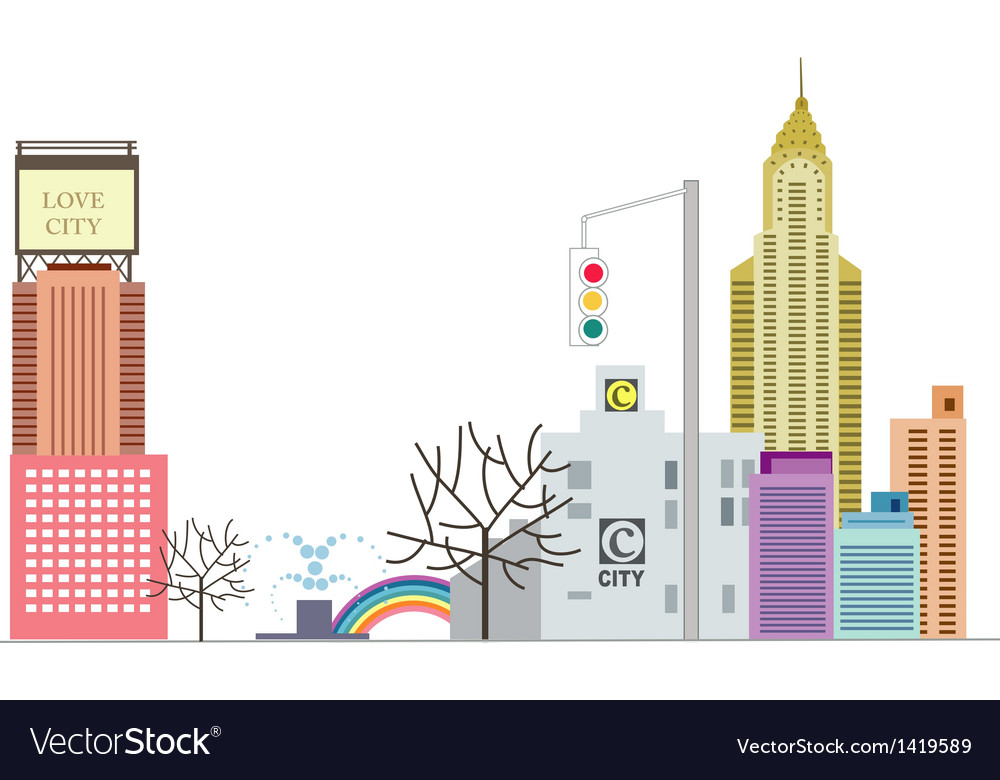 Cityscape skyscraper vector | Price: 1 Credit (USD $1)