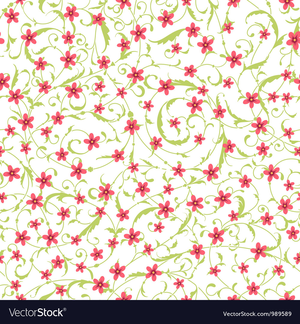 Classic seamless flower texture vector | Price: 1 Credit (USD $1)