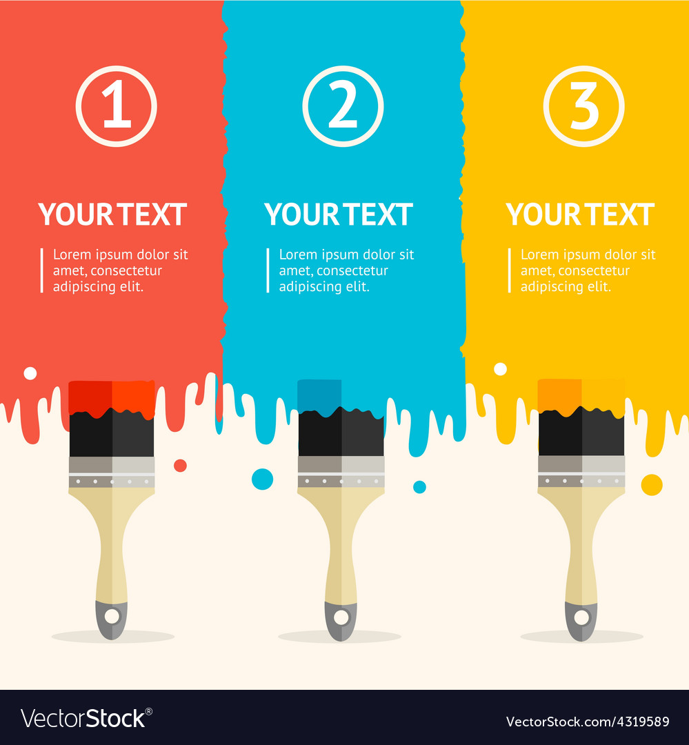 Colorful brushes option banner vector | Price: 1 Credit (USD $1)