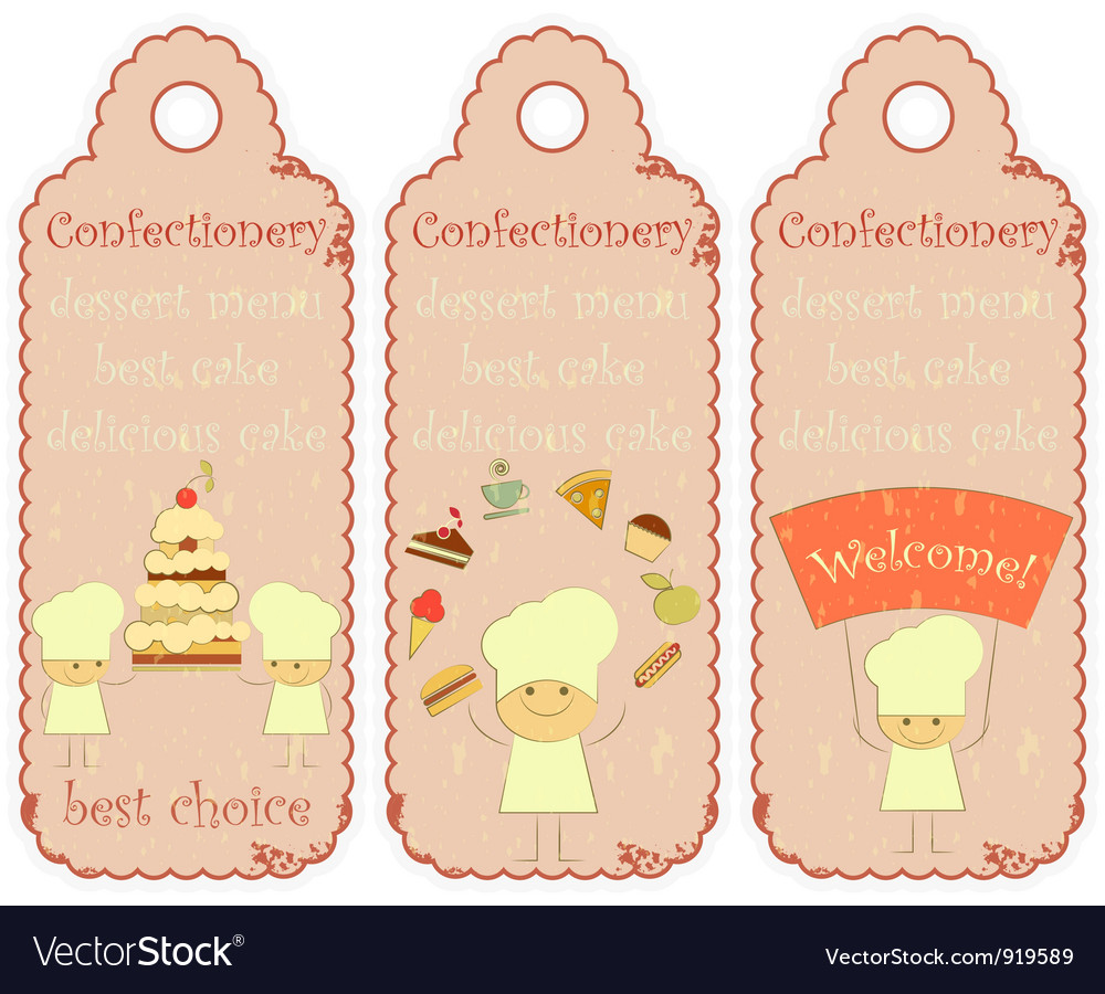 Confectionery labels in retro style vector | Price: 1 Credit (USD $1)