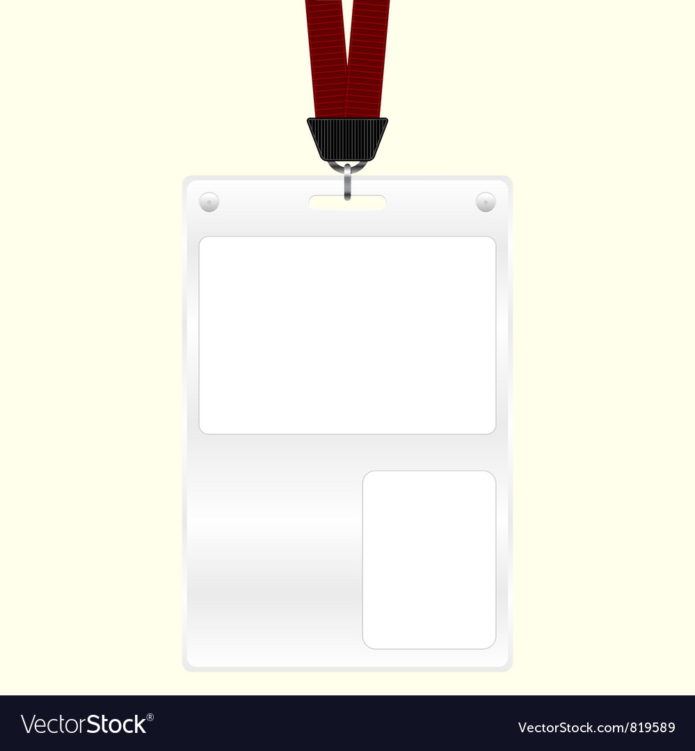 Id badge vector | Price: 1 Credit (USD $1)