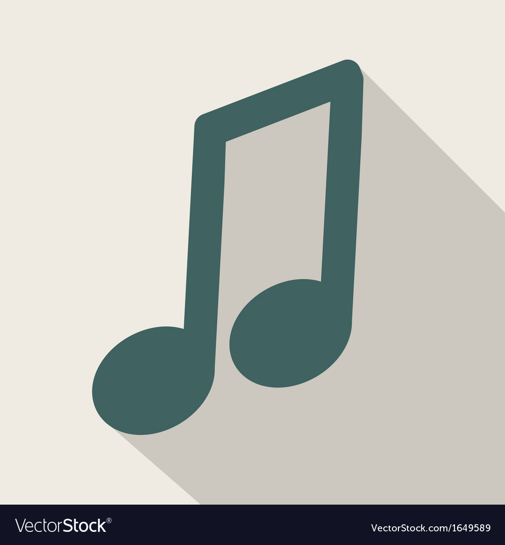 Music web iconflat design vector | Price: 1 Credit (USD $1)