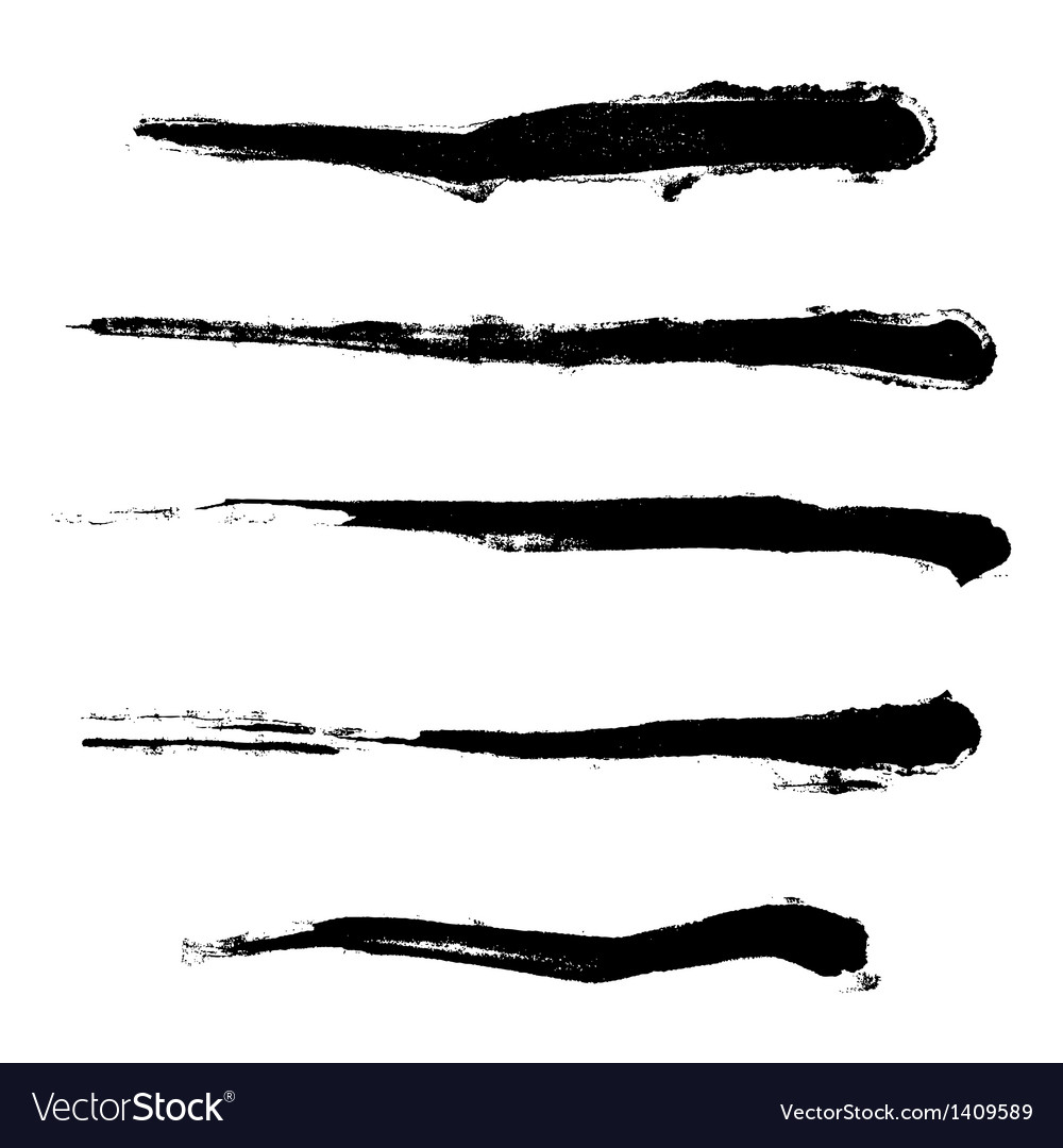 Paintbrush set vector | Price: 1 Credit (USD $1)