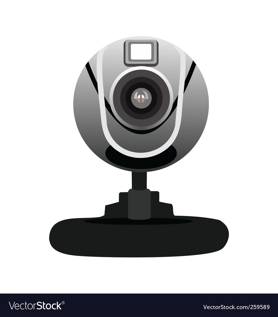 Realistic illustration of web camera vector | Price: 1 Credit (USD $1)