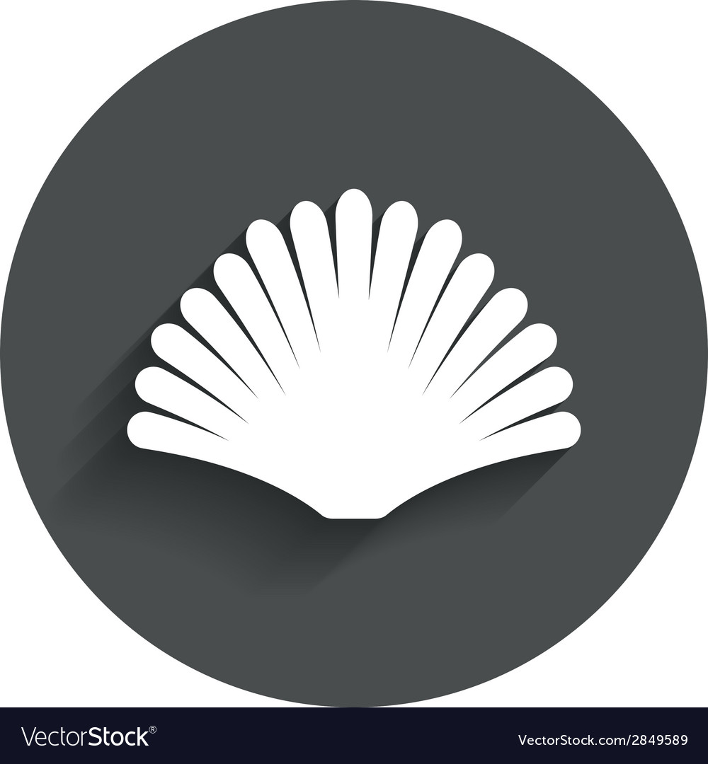 Sea shell sign icon conch symbol travel icon vector | Price: 1 Credit (USD $1)