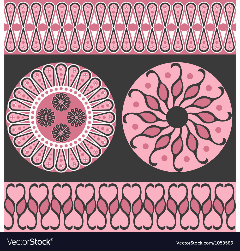 Style scroll background pattern vector | Price: 1 Credit (USD $1)