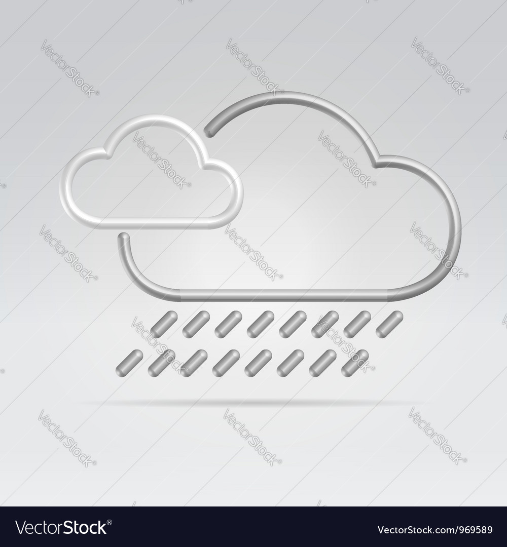 Weather rain vector | Price:  Credit (USD $)
