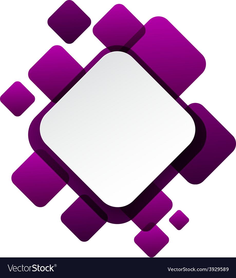 White paper label over purple bubbles vector | Price: 1 Credit (USD $1)