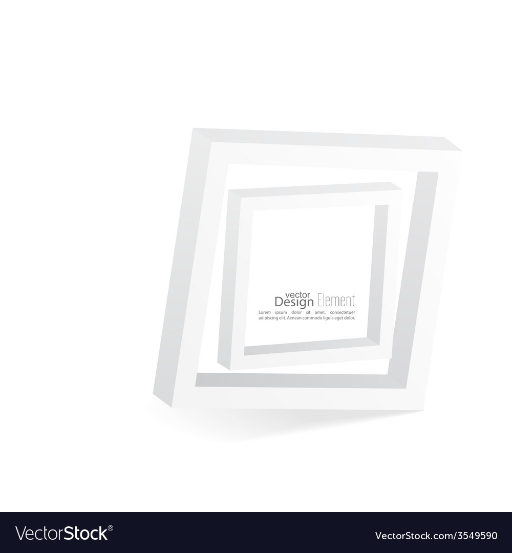 Abstract 3d frame vector | Price: 1 Credit (USD $1)