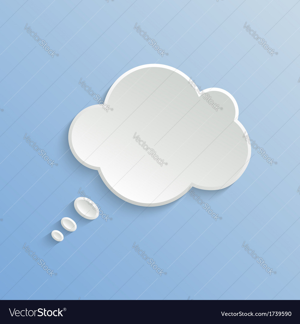 Abstract white speech bubble vector | Price: 1 Credit (USD $1)
