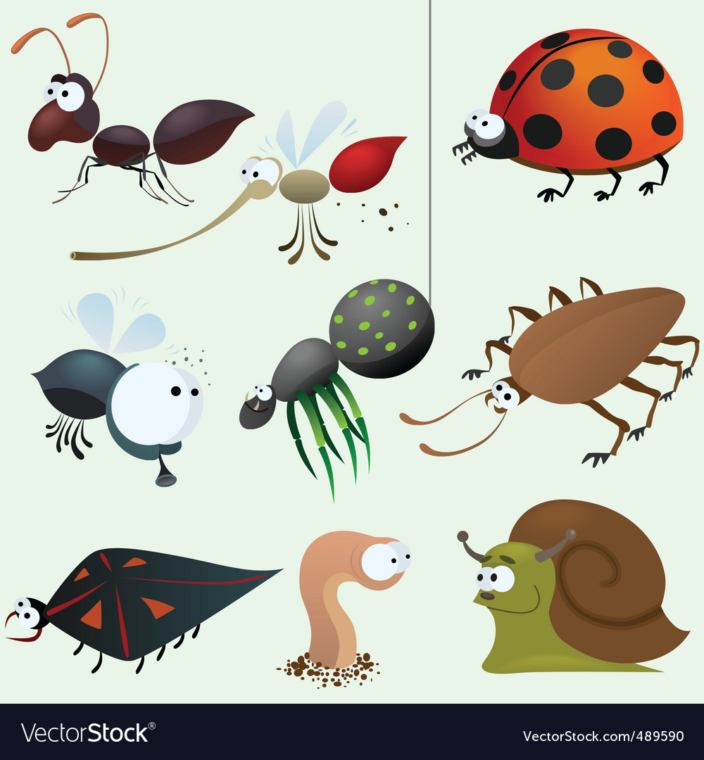 Cartoon insect set vector | Price: 3 Credit (USD $3)
